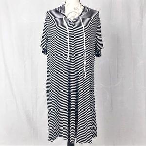 Hooded t-shirt dress